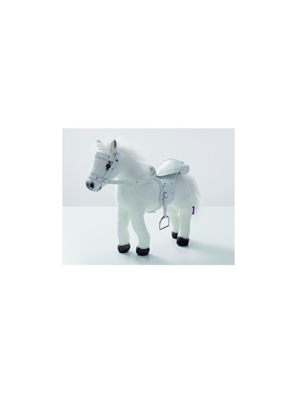 Hobune, sadul ja päitsed, valge, heliefektidega