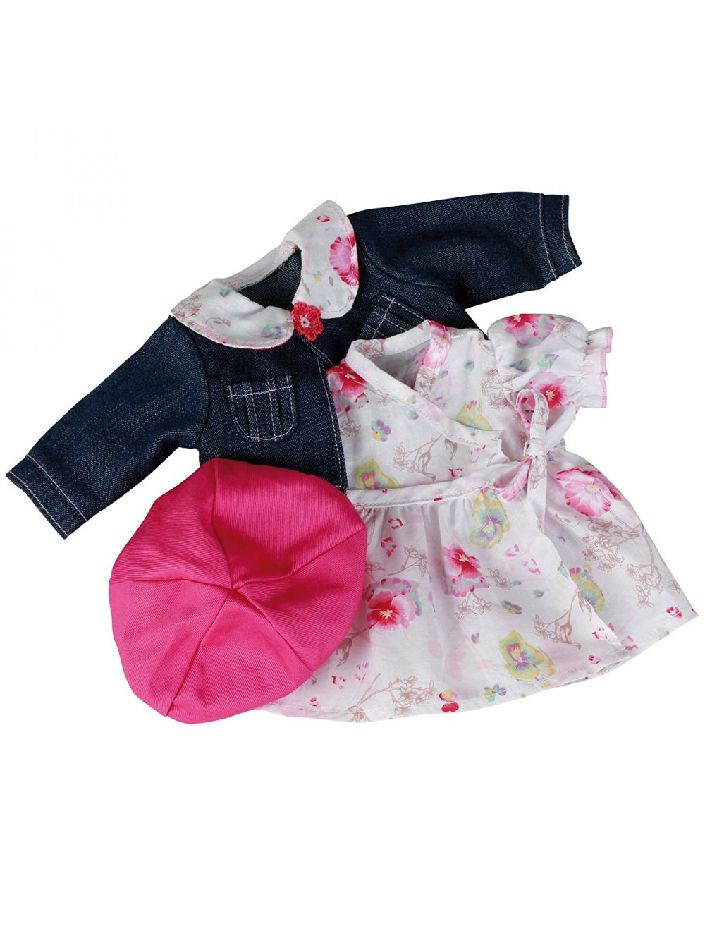 Kleit, teksajakk ja müts 42-46 cm