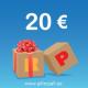 KINKEKAART 20 EUROT